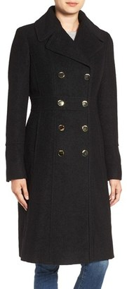 GUESS Fit & Flare Military Coat $258 thestylecure.com