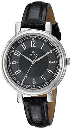 Titan Women's 'Neo' Quartz Metal and Leather Casual Watch
