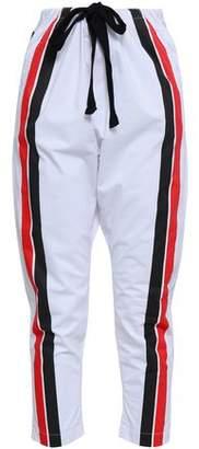 P.E Nation Striped Cotton-poplin Track Pants