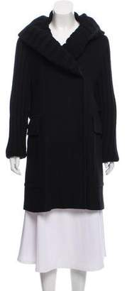 Burberry Virgin Wool Knit Coat