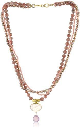 Nava Zahavi Promise Multi-Strand Gemstones, Sterling Silver and 24K Gold Necklace