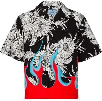 Prada flame print shirt