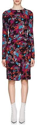 Givenchy Women's Fire Flower-Print Wrap Dress - Black