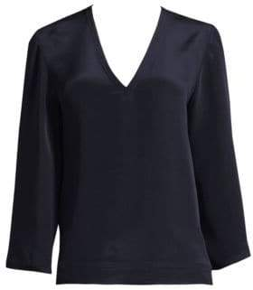 Derek Lam V-Neck Full-Sleeve Blouse