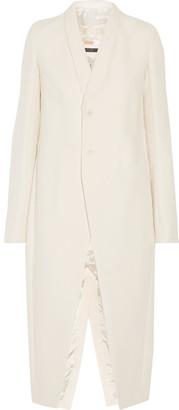 Rick Owens - Mastodon Cotton And Silk-blend Coat - Cream $2,705 thestylecure.com