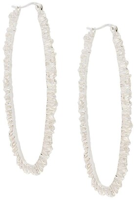 Niza Huang Under Earth texture hoop earrings