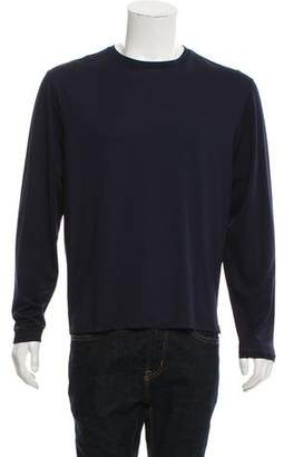 Prada Long-Sleeve Woven T-shirt