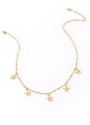 francesca's Willa Star Choker - Gold
