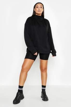 boohoo Plus Turtle Neck Seam Detail Sweater