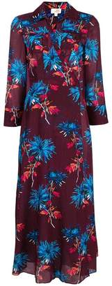 Diane von Furstenberg floral printed flared dress