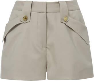 Brandon Maxwell Fold-Over Pocket Shorts