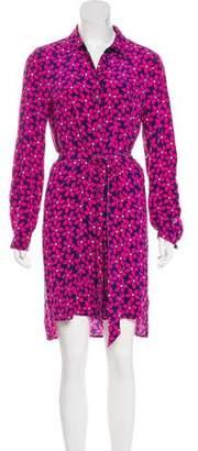 Diane von Furstenberg Long Sleeve Silk Midi Dress