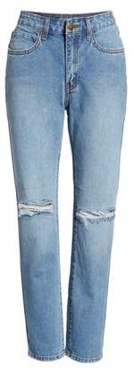 Billabong Ripped High Waist Crop Jeans