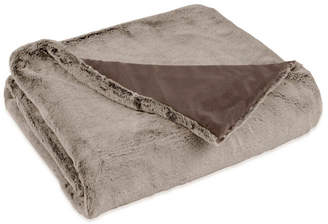 "West Point Closeout! Vellux Faux Fur Brown Rabbit Throw, 50""x60"""
