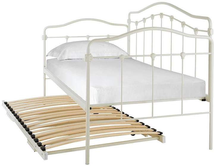 Serene Metal Day Bed And Trundle Guest Bed With Mattress Option
