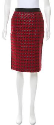 Dolce & Gabbana Brocade Houndstooth Skirt