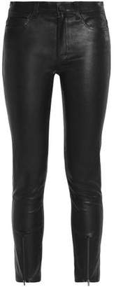 Helmut Lang Cropped Stretch-leather Skinny Pants
