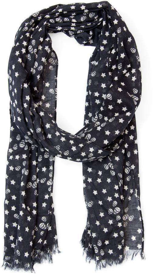 Skulls and stars foulard