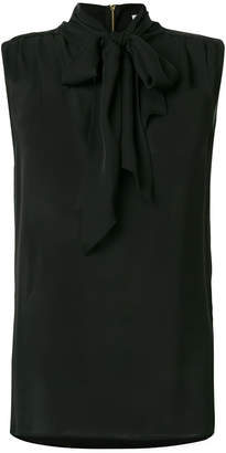 Pierre Balmain sleeveless pussy bow blouse