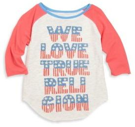 True Religion Toddler's & Little Girl's Printed Football Tee $39 thestylecure.com