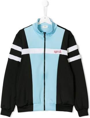 Fendi colour block bomber jacket