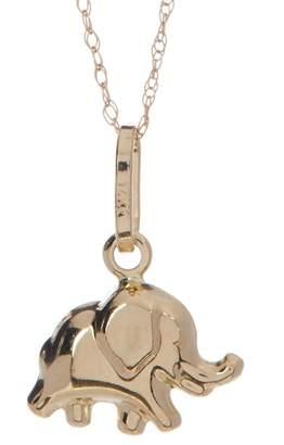 Candela 14K Yellow Gold Elephant Charm Necklace
