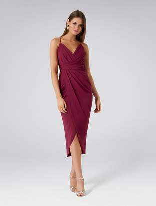 Forever New Charlotte Drape Maxi Dress - Black. - 6