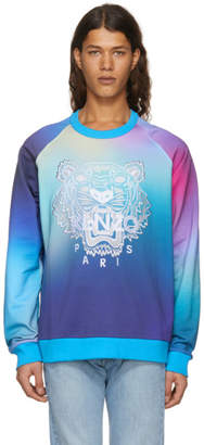 Kenzo Blue Limited Edition Geo Tiger Sweatshirt