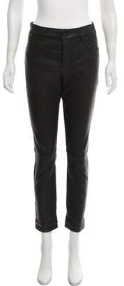RtA Denim Leather High-Rise Pants