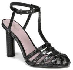 Diane von Furstenberg Eva Leather T-Strap Sandals