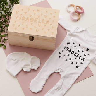 Owl & Otter Personalised New Baby Gift Set