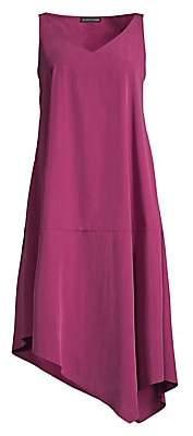 Eileen Fisher Women's Sandwashed Tencel Asymmetric Dress