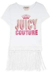 Juicy Couture Little Girl's Embellished Fringed-Hem Top