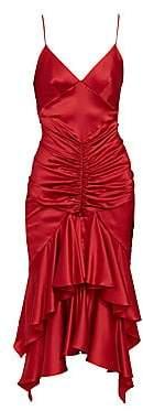 Alexandre Vauthier Women's Ruffle Hem Satin Cocktail Dress