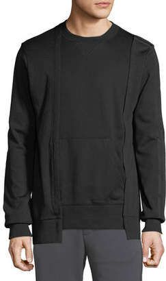 Y-3 Men's Patchwork Paneled Sweater