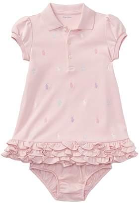 Ralph Lauren Ruffled Polo Dress Bloomer Girl's Dress