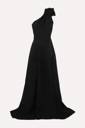 Maticevski Virtuoso One-shoulder Cady Gown - Black