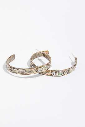 Franny Elizabeth Jewelry Free Rain Opal Diamond Hoop Earrings