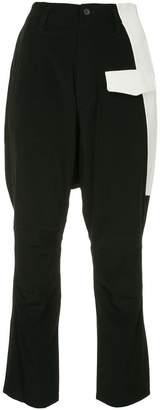 Yohji Yamamoto knee patch trousers