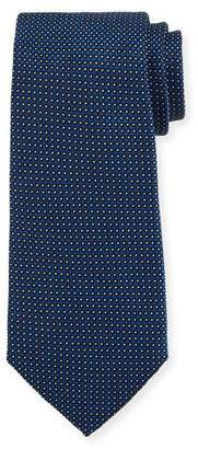 Emporio Armani Neat Dot Silk Tie, Blue