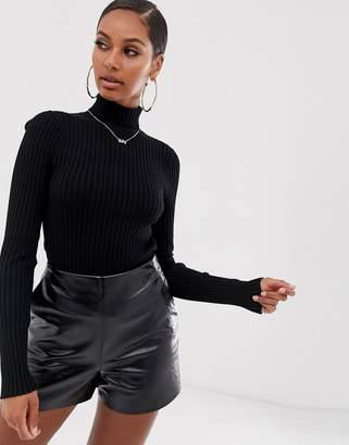 Asos Design DESIGN roll neck sweater in fine knit rib