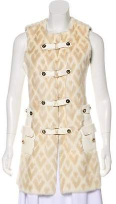 Valentino Mink & Leather Vest