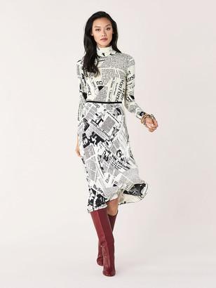 Diane von Furstenberg Mae Crepe Midi Skirt