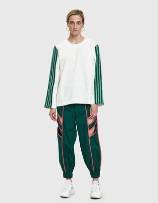 Dima Leu Velvet Stripe T-Shirt in Green