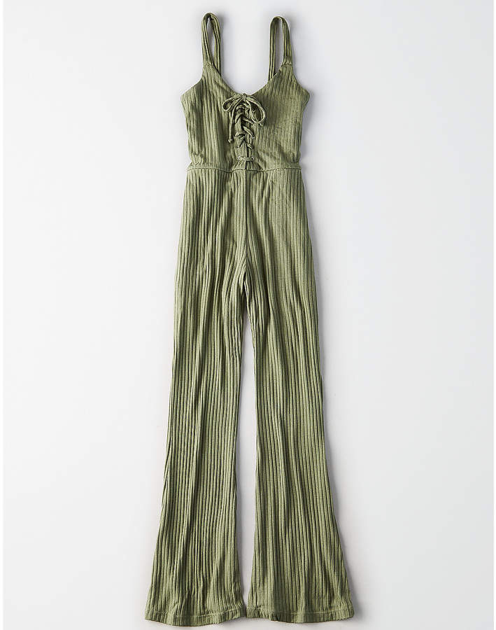 Don't Ask Why Lace Up Jumpsuit