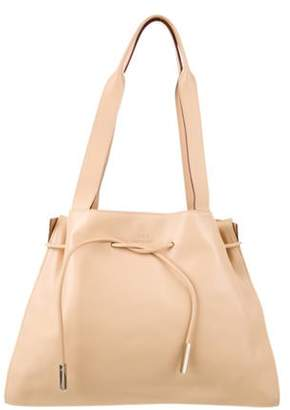 Gucci Vintage Leather Drawstring Tote Tan Vintage Leather Drawstring Tote