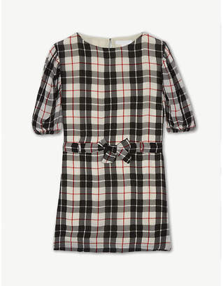Burberry Gathered sleeve check dress 8-14 years