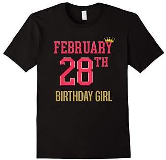 February 28th Girly Cute Birthday Party Shirt
