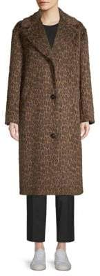 Max Mara Porta Single-Breasted Cheetah Coat