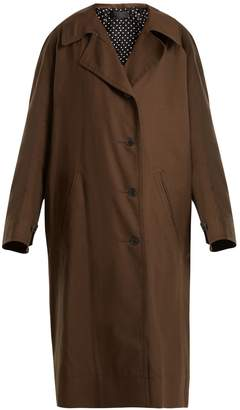 Haider Ackermann Single-breasted cotton trench coat